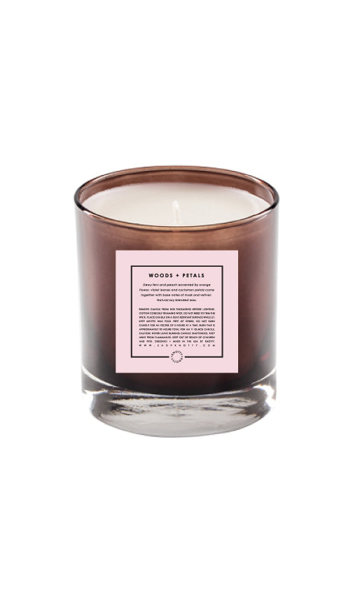 Soy Candle | Woods + Petals - Knotty