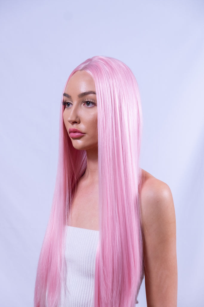 Bright Pink Festival Wig Fast Shipping