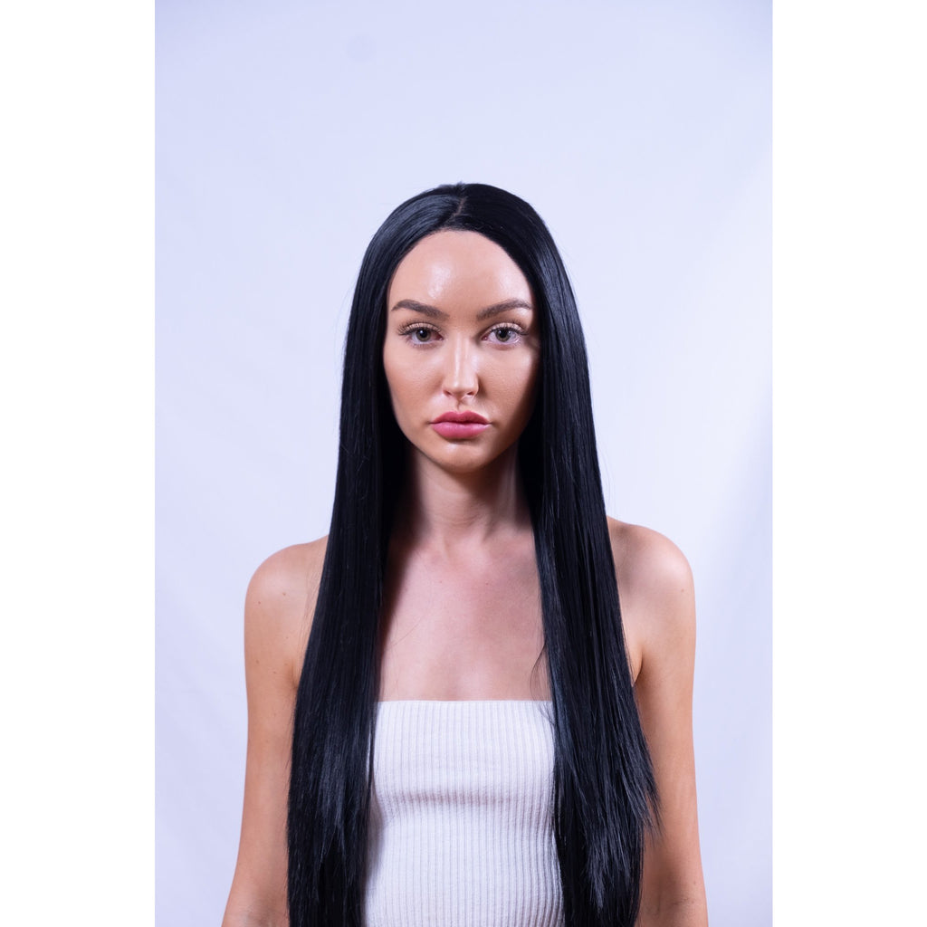 Long Black Synthetic Front Lace Wig Brisbane
