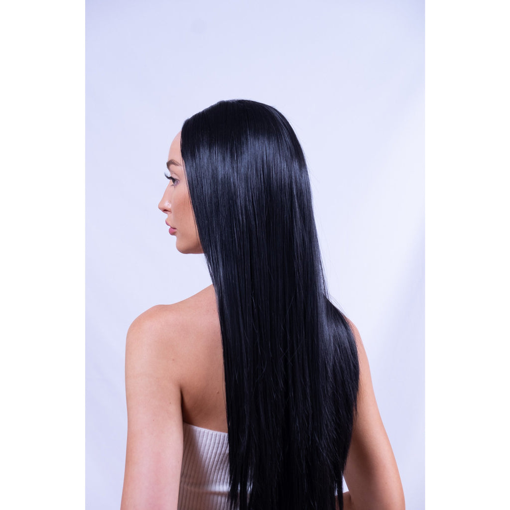 Long Black Synthetic Wig Brisbane