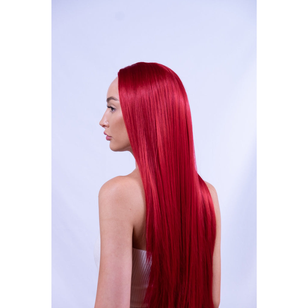 Long Red Synthetic Lace Wig Brisbane