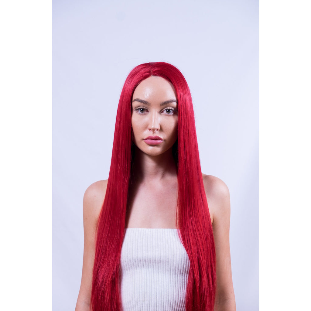 Vibrant Red Synthetic Lace Wig Australia