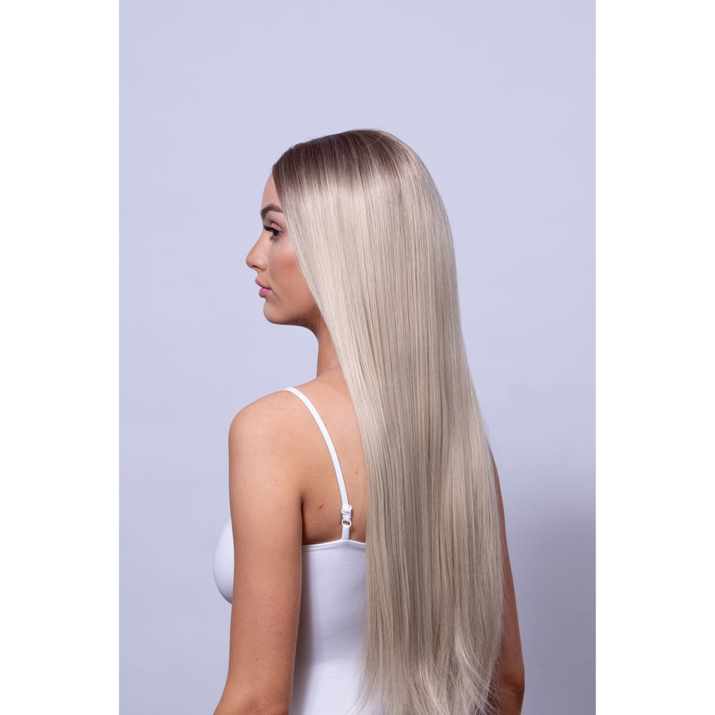 long balayage blonde wig