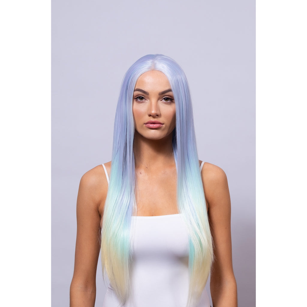 rainbow synthetic wig