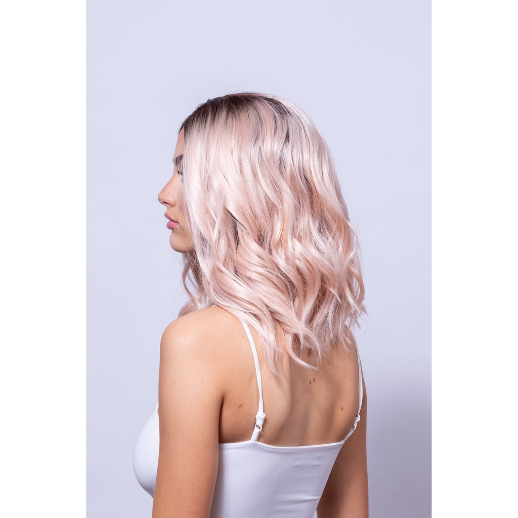 rose gold short wig