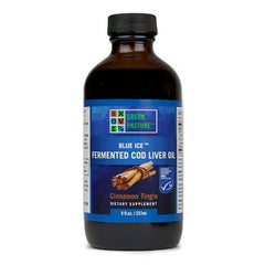 Blue Ice Fermented Cod Liver Oil Cinnamon Tingle Liquid 8 oz