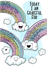 Load image into Gallery viewer, Happy Clouds w/ Rainbows Gratitude Log