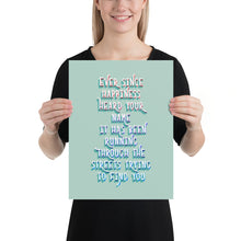 Load image into Gallery viewer, 'Ever Since Happiness Heard Your Name' Lettering Print