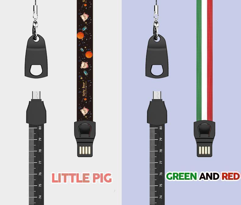 3 in 1 USB Cable Phone Lanyard