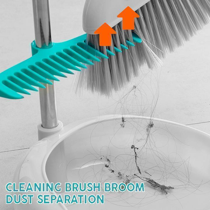 Cleaning Brush Broom Dust Separation