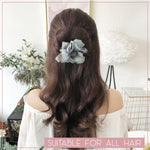 Floral Hair Donut Bun Maker