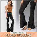 Comfy Stretch Flared Trousers