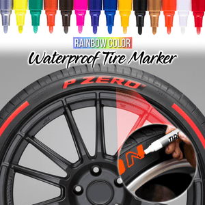 Rainbow Color Waterproof Tire Marker