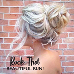 Instant Messy Rose Bun Scrunchie
