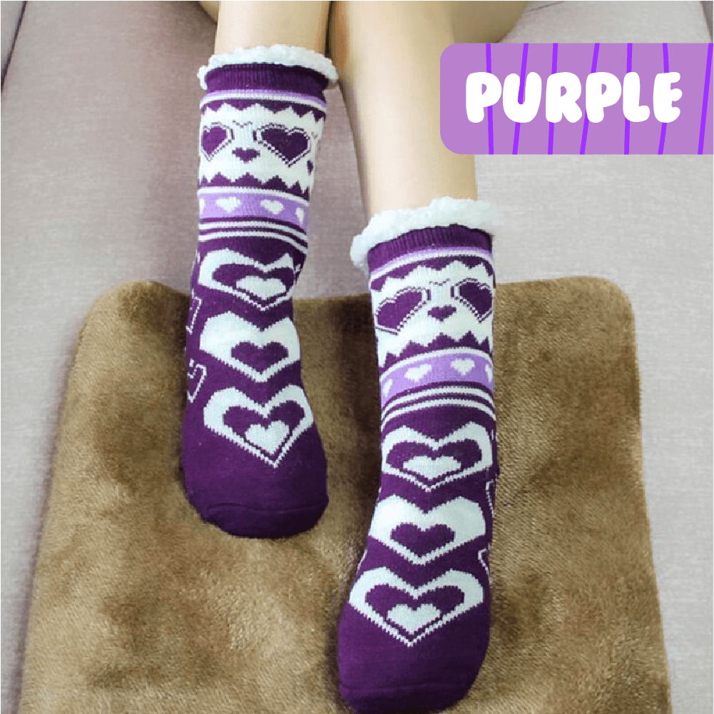 Thermal Fleece Winter Slipper Socks