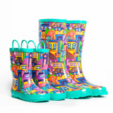 CITY OF COLORS KIDS RAIN BOOTS