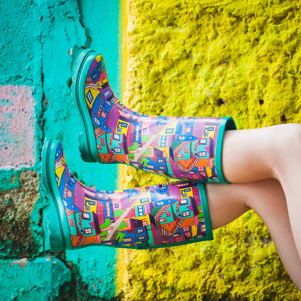 CITY OF COLORS WOMEN'S RAIN BOOTS