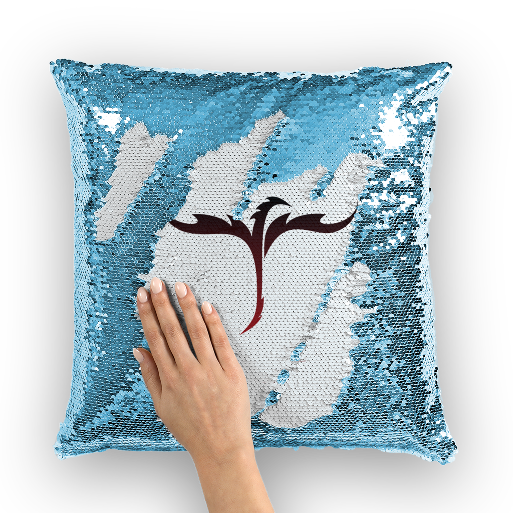 Scarlet Sequin Cushion Cover