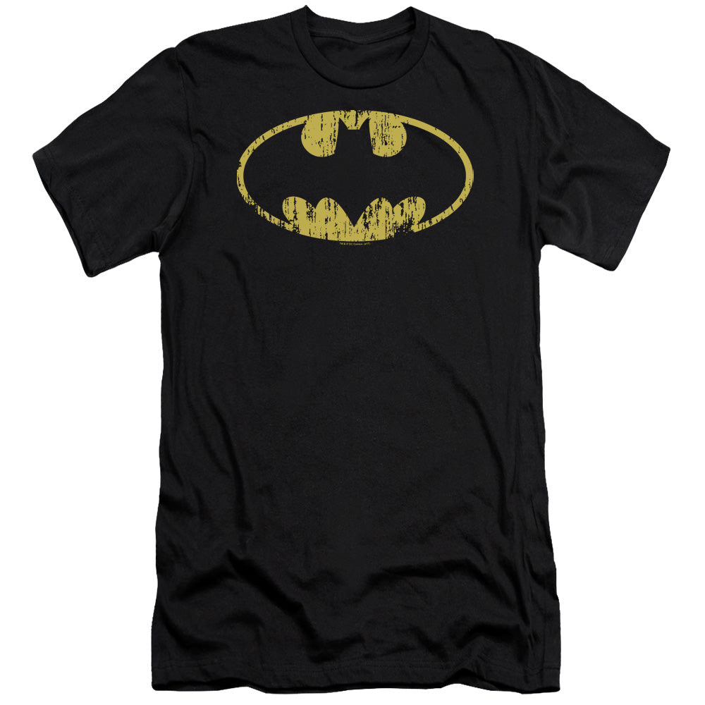 Batman - Classic Logo Distressed Premium Canvas Adult Slim Fit 30/1 - Orion Go Beyond
