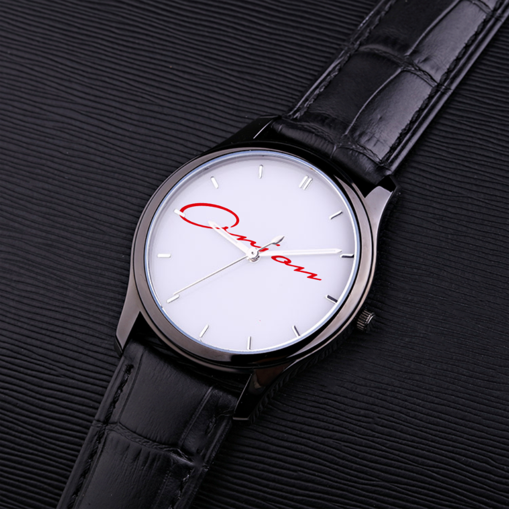 30 Meters Waterproof Quartz Fashion Watch With Black Genuine Leather Band - Orion Go Beyond