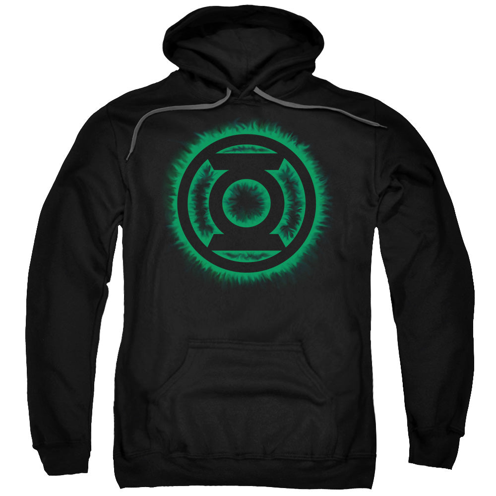 Green Lantern - Green Flame Logo Adult Pull Over Hoodie - Orion Go Beyond
