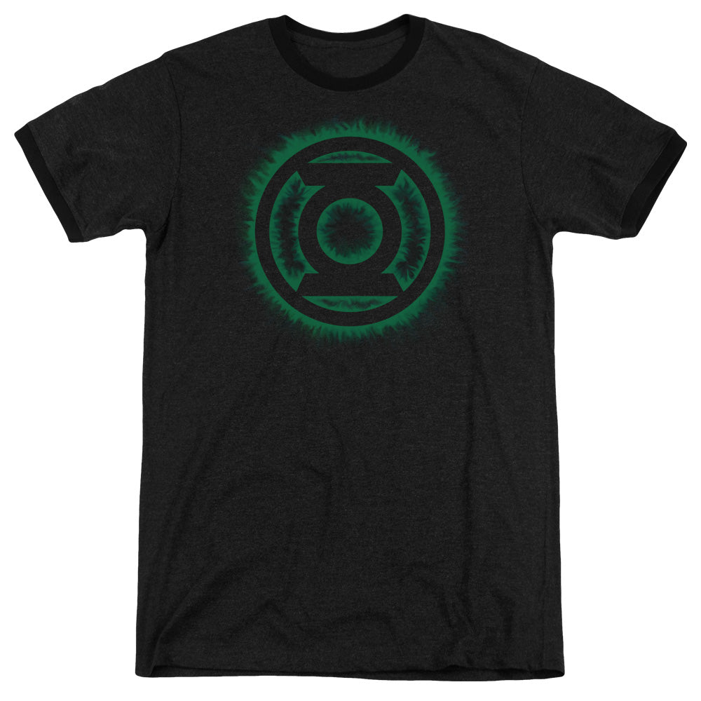 Green Lantern - Green Flame Logo Adult Heather - Orion Go Beyond