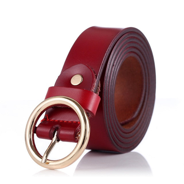 COWATHER women belts cow genuine leather good quality alloy pin buckle fashion style design cinto feminino original brand - Orion Go Beyond