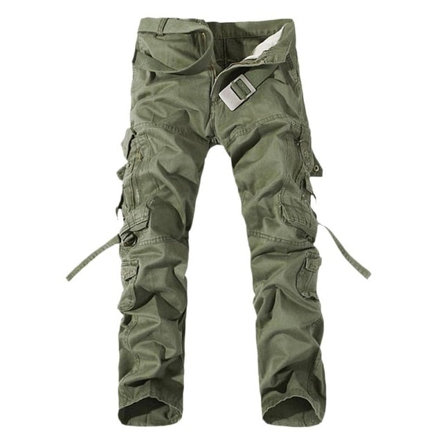 2017 New Men Cargo Pants army green Multi-pocket decoration mens Casual trousers easy wash male autumn army long pants plus size - Orion Go Beyond