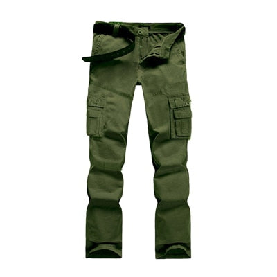 2017 New Men Fashion Military Cargo Pants Slim Regualr Straight Fit Cotton Multi Color Camouflage Green Yellow Pleated Trousers - Orion Go Beyond