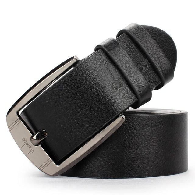 Rectangular Men's Belt Leather Belt Men male Faux Leather Strap Luxury Pin Buckle Casual men's Belt Cummerbunds ceinture homme
