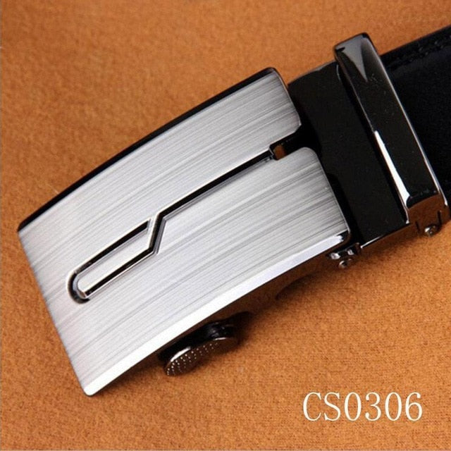 Men Automatic Buckle Artificial Leather Bussiness Casual Belts Mens Waist One size fits most 8 types Strap - Orion Go Beyond