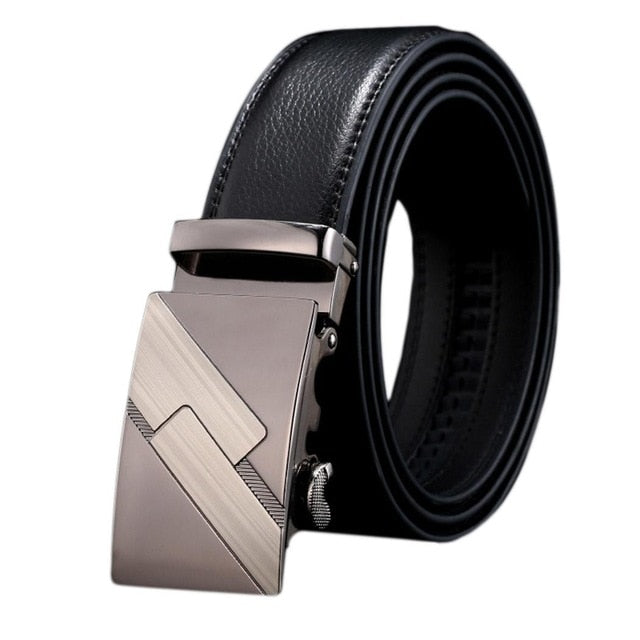 125cm Hot Sale FashionMen Leather Automatic Buckle Belts Fashion Waist Strap Belt Waistband Brand New High Quality - Orion Go Beyond