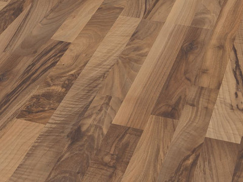 7MM SMART AC3 3-STRIP TICINO WALNUT LAMINATE FLOORING €7.50 Per sq Yard