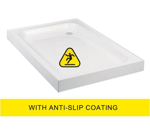 JT Ultracast 1000x900 Rectangle Upstand Shower Tray - Anti Slip   Code A10904AS