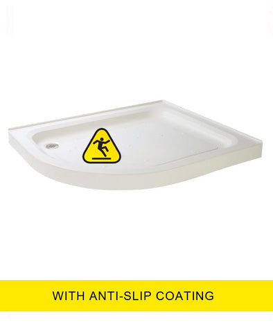 JT Ultracast 1000x800 Offset Quad  Upstand Shower Tray LH - Anti Slip   Code A1280LQ2AS