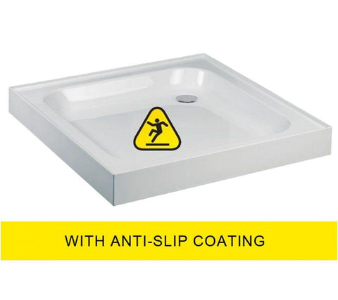 JT Ultracast 800 Square Upstand Shower Tray  - Anti Slip 800x800  Code A804AS