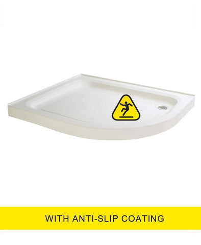 JT Ultracast  900X800 Offset Quadrant Upstand Shower Tray -RH -  Anti Slip  Code A980rQ2AS