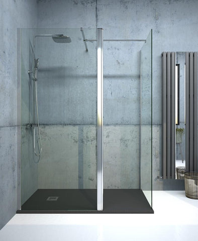 SONAS Aspect Chrome 700mm Wetroom Panel Code ACWRP001