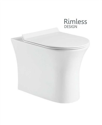 SONAS Amanda Back to Wall Rimless Design with Soft Closing SLIM Seat - QR Code AMABTW01