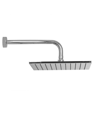 SONAS Arva Square 250 Shower Head & 300mm Round Wall Shower Arm Code ARS2530