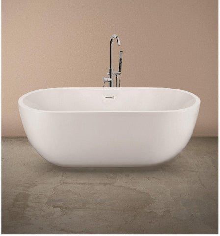 SONAS Chloe Contemporary Freestanding Bath with Tap Ledge - 1555 x 750 Code BOX107