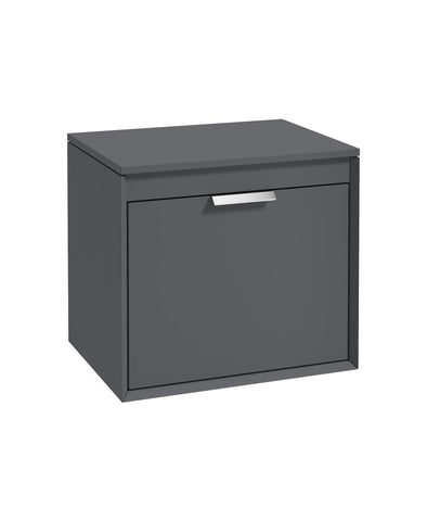 Fjord 60cm Unit with Counter Top Chrome Handle Matt Midnight Grey CFJ60CTMN