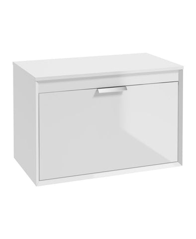 Fjord 80cm Unit with Counter Top Chrome Handle Gloss White CFJ80CTWH