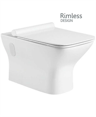 SONAS Wall Hung Design, Rimless WC, SLIM Soft Closing Seat  -  QR Code CLAWH02