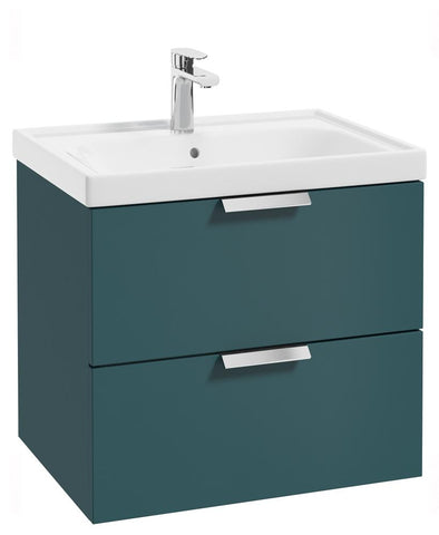 SONAS Stockholm Ocean Blue Matt 60cm Wall Hung Vanity Unit - Brushed Chrome Handle Code CWST60OB
