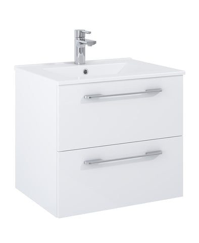 SONAS Otto Plus Gloss White 60cm 2 Drawer Wall Hung Vanity Unit - D46cm Code DRWOP60WH