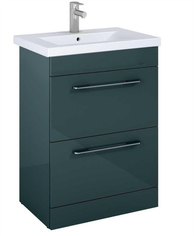 SONAS Otto Plus Gloss Grey 60 Vanity Unit Code ELTCAR60GG