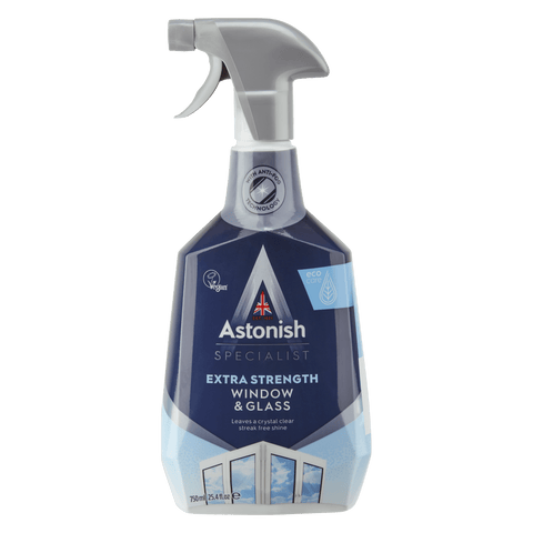ASTONISH SPECIALIST EXTRA STRENGTH WINDOW & GLASS CLEANER (750ML)