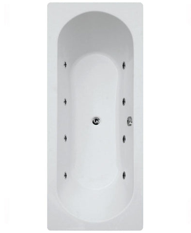 SONAS Clover  1800 x 800 Double Ended 8 Jet Whirlpool Bath Code GGICLO1805