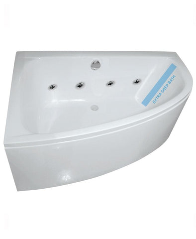 SONAS Maya 1500 Offset Corner 8 Jet Whirlpool Bath Left Hand with Bath Panel Code GGIMLH05